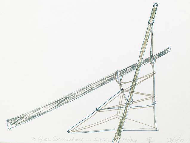 Claire Falkenstein (American, 1908-1997) Lone Pine, 1977; Untitled, 1988 (2) 8 3/4 x 12in (22.5 x 30.5cm); 8 3/4 x 12 1/2in (22.5 x 32cm)