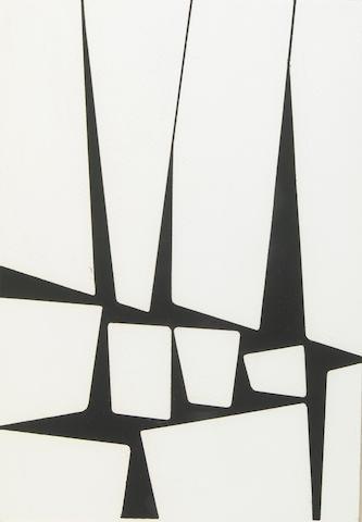 Karl Stanley Benjamin (American, b.1925) Untitled, 1956 17 1/2 x 12 3/4in (44.5 x 32.5cm)