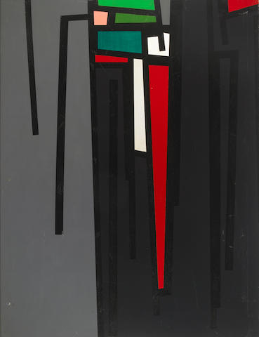 Karl Benjamin (02), TG # 19, 1961, Oil on canvs, 42 x 32 inches