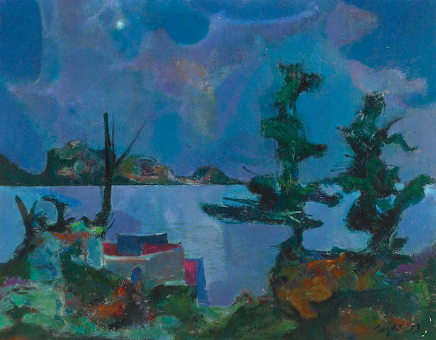 Jack Zajac (24), Mexican Lake, Oil on canvas, 28 x 36 inches
