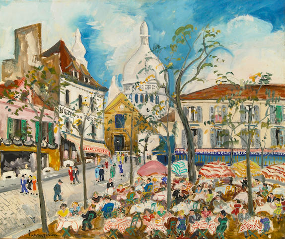 Lucien Genin (French, 1894-1958) Place de Tertre 21 x 25 1/2in (53.4 x 64.8cm)