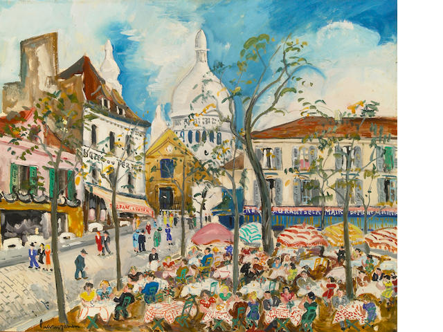 Lucien Genin, Place de Tutre, oil on canvas
