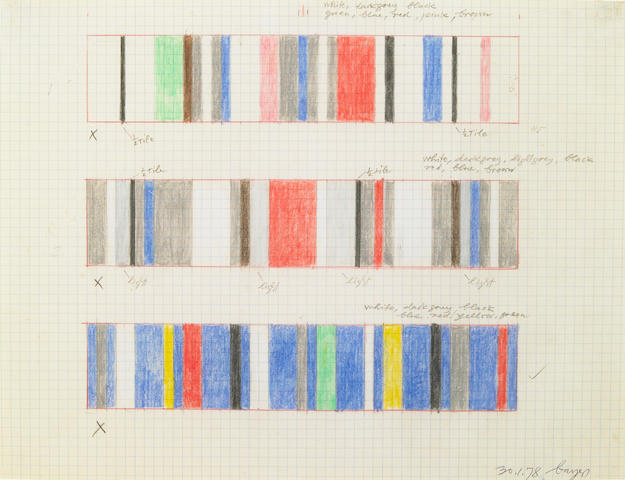 Herbert Bayer (German, 1900-1985) Untitled (Color Study), 1978 8 1/2 x 11in (21.5 x 28cm)