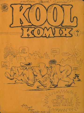 Robert Crumb, Kool Comix, ink on paper