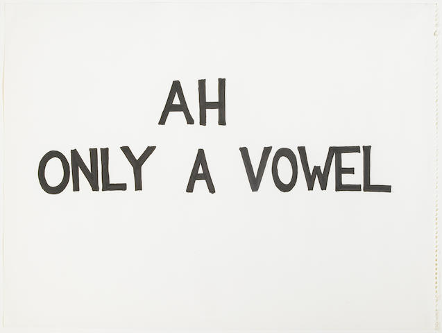 Evan Holloway, 6 Anagrams, 1996/1997, pen on paper