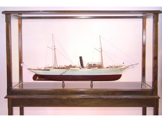 "A good scale model of the Presidential steam yacht ""Mayflower,"" 20th century overall 50 x 15 x 58in"