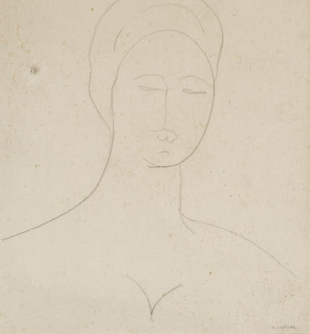 Gaston Lachaise (French, 1882-1935) Head of a woman 12 3/4 x 10 1/4in (32.5 x 26cm)