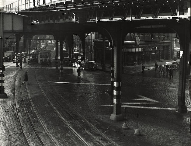 Todd Webb (American, 1905-2000); Under the El, Chatham Square, New York; Olo Stone, Silver City, Idaho; Morelia, Mexico; (3)