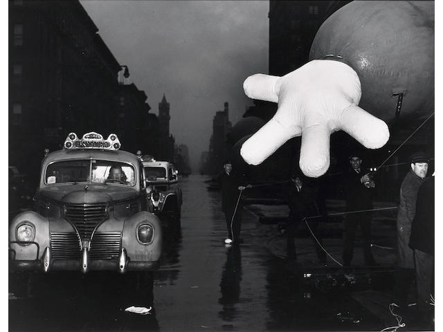 Weegee (Arthur Fellig) Woman Cab Driver and Macy's Clown;