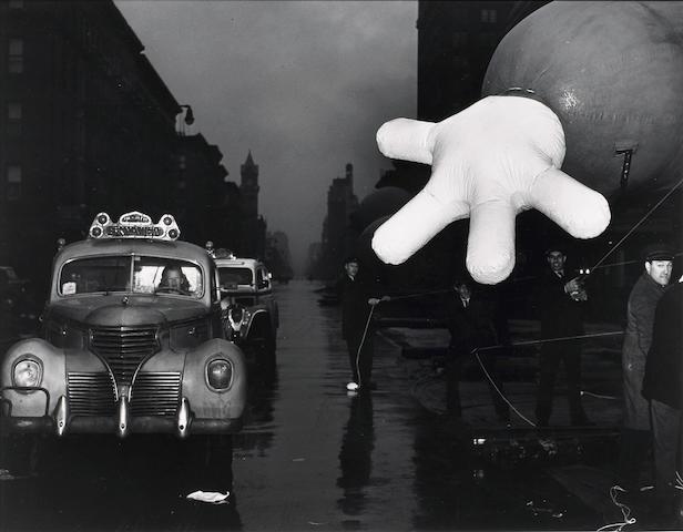 Weegee (Arthur Fellig) Woman Cab Driver and Macy's Clown;