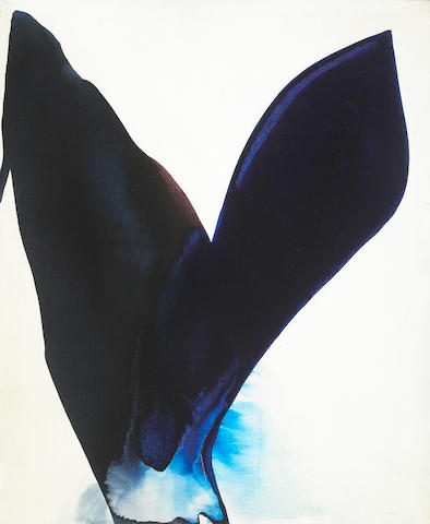 Paul Jenkins Phenomena Blue Span 1962 oil on canvas