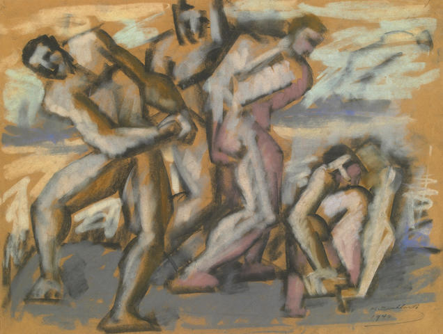 Hans Burkhardt Untitled 1940 pastel on paper