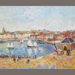 H. Claude Pisarro Le Petit Port de Joburg oil on canvas