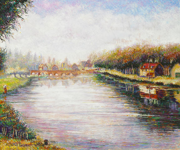 H. Claude Pisarro Moret sur le Loing oil on canvas