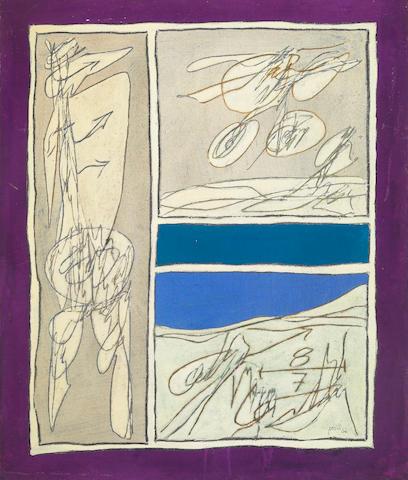 Achille Perilli, I Contetti Sociali, 1964, oil on canvas