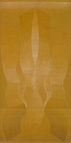 Eustasio Sempere, Crystalizacion Imaginaria, 1966, gouache on board