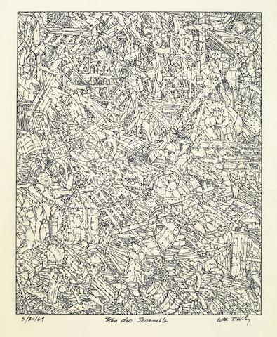 William Wiley, Voo Doo Scramble, 1969, ink on paper