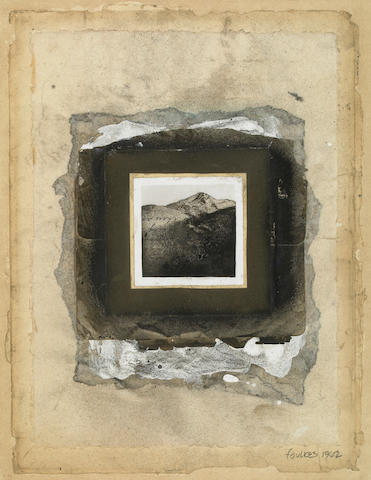 Lynne Foulkes, Untitled, 1962, photograph, ink, watercolor on paper collaged on board