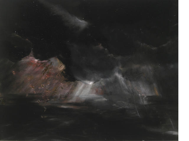 Peter Alexander, Chula Vista, 1977, watercolor, glitter and copper dust on paper