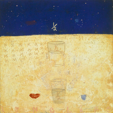 Squeak Carnwath, Long (life), 1992, oil and alkyd on canvas, Provenance: LedisFlam, New York