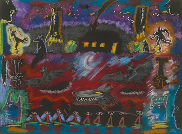 Carlos Almaraz Untitled, 1989 pastel on paper