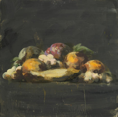 Tony Scherman (CANADIAN, 1950)Still Life with Fruits encaustic on canvas