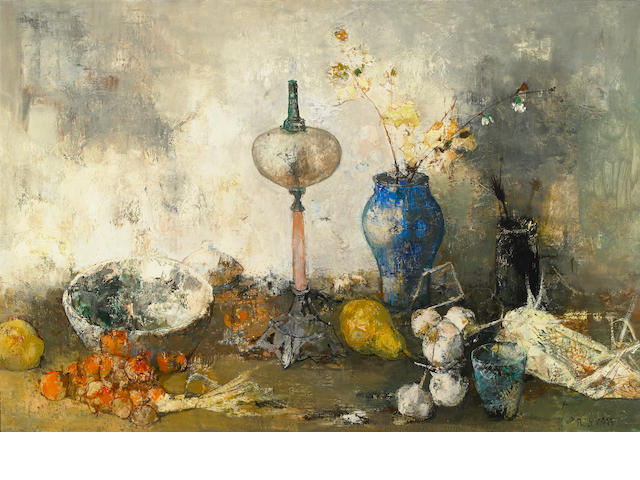 Jean Jansem, Still Life, oil on cavnas