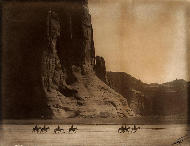 Edward S. Curtis (American, 1868-1952); Canyon de Chelley, Arizona, Navaho;