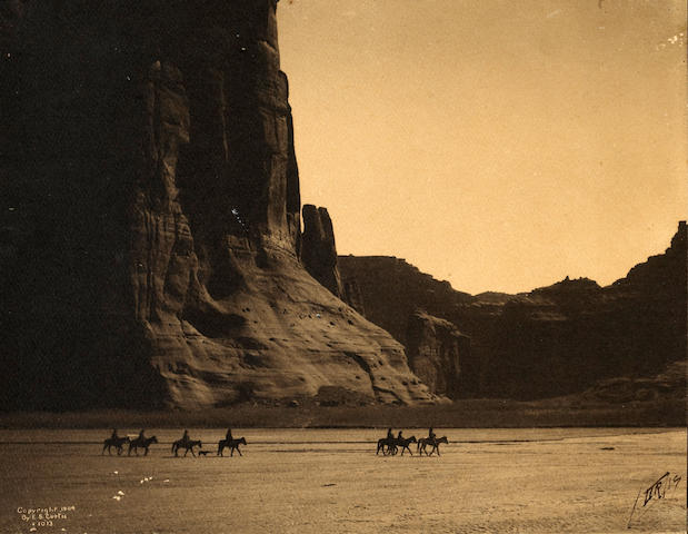 Edward S. Curtis; Canyon de Chelley, Arizona, Navaho;