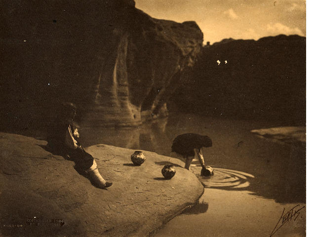 Edward S. Curtis; At the Old Well of Acoma;