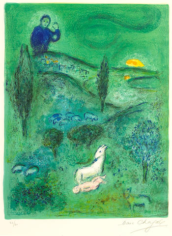 Marc Chagall; Lamon Discovers Daphnis, from Daphnis and Chloé;