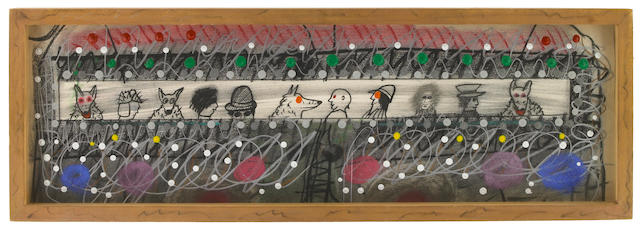 Roy deForest Untitled 1979 mixed media on paper