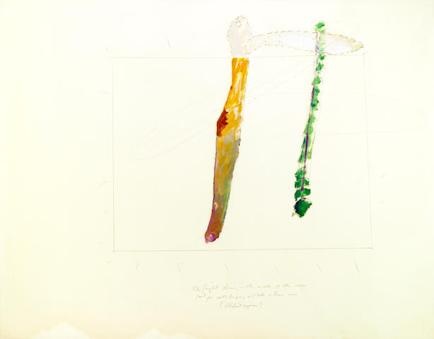 Richard Jackson, A Light Shining..., watercolor and ink on paper