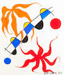 Alexander Calder (American, 1898-1976) Oscillations, 1969 24 1/8 x 20 7/8in (61.3 x 53cm)