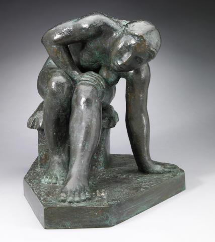 Felipe Castañeda (Mexican, b.1933) Mujer Apoyándose, 2000 13 3/4 x 15 1/4 x 12in (35 x 38.7 x 30.5cm)