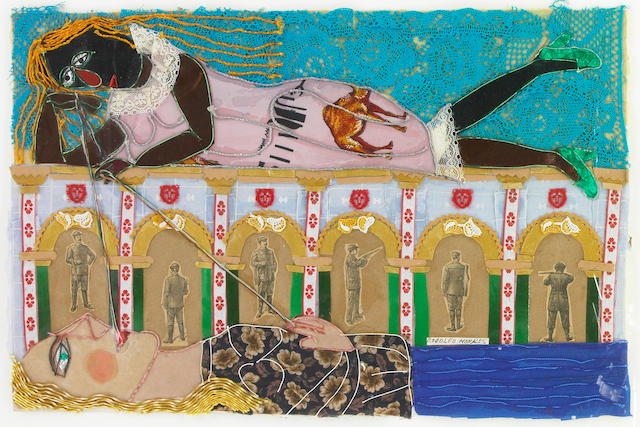 Rudolfo Morales, Untitled, 1991, collage on paper