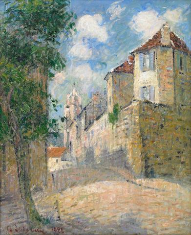 Gustav Loiseau, La vue Dela cour a Pontise, 1922, oil on canvas