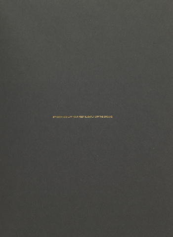 James Lee Byars, The Hundred One Page Books, 1975, Galerie Michael Werner, New York, book covered in black linen with one page printed in gold