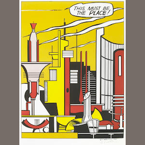 Roy Lichtenstein, This Must Be The Place, color offset lithograph, signed in pencil