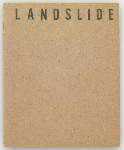 Bas Jan Ader and William Levitt, Landslide, Numebr Four, 1969, artist's publication, black and white print with stapled cover, edition of 25 maximum