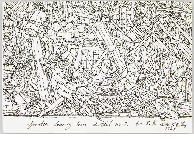 William Wiley, Frontier Looney Bin Detail #2, 1969, ink on paper (unframed)