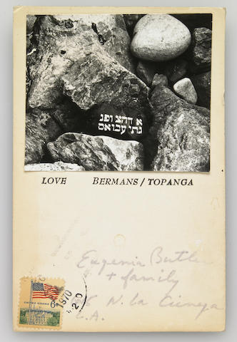 Wallace Berman, New Year's Card, 1970
