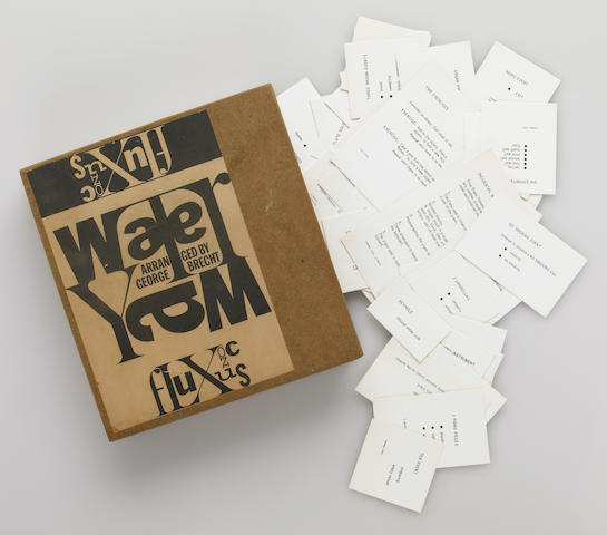George Brecht, Water Yam, box with cards