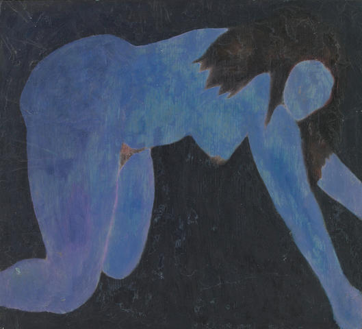 Sherman Drexler, Untitled (Nude), oil on panel