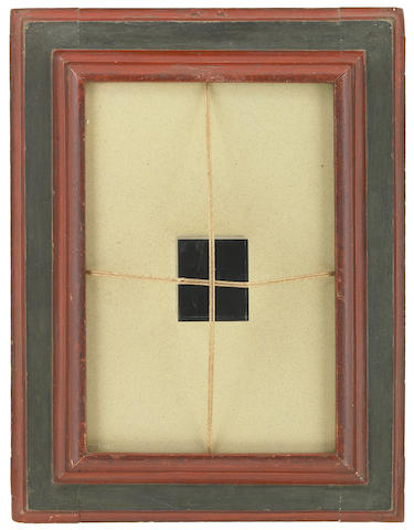 Gustavo Torner, Untitled, 1966, plexiglass cube, twine, sand on panel