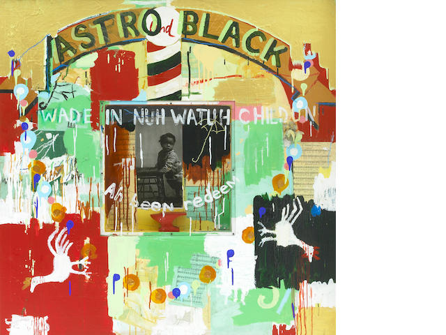 Radcliff Bailey, Astro Black, 1995, mixed media