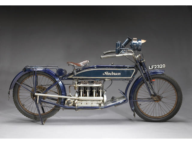 1914 Henderson 1,068cc Four-cylinder Motorcycle Frame no. 2705