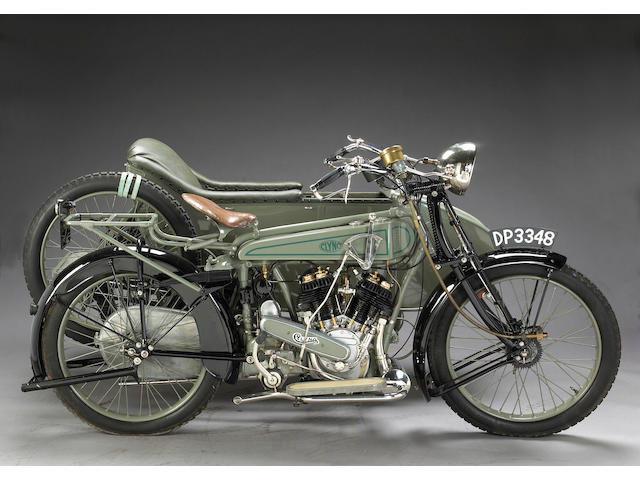 1921 Clyno 925cc V-twin with Sidecar Frame no. 173 Engine no. 173