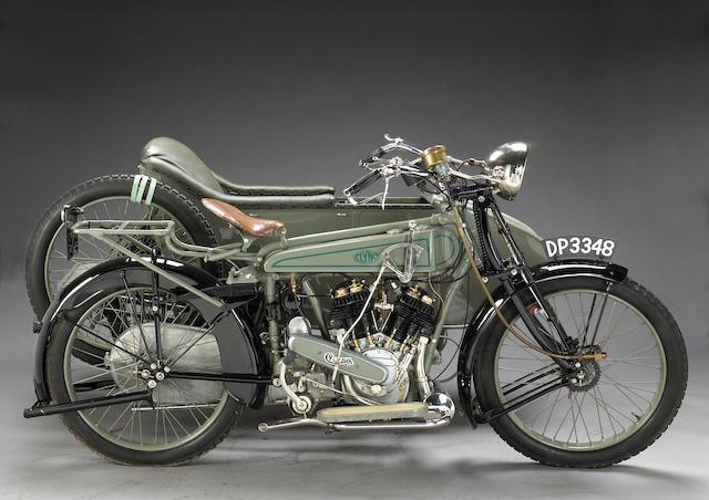 1921 Clyno 925cc V-twin with Sidecar Frame no. 173 Engine no. 173