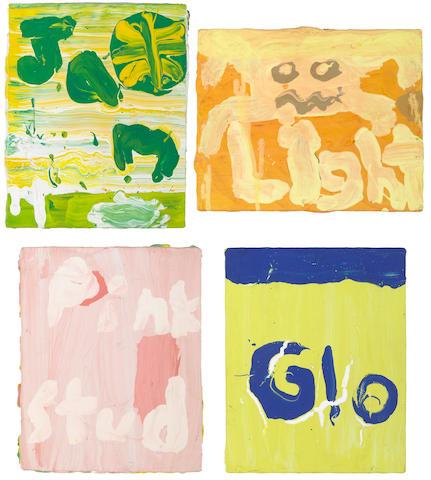 Brenda Cass, Pink Stud(y), Jam, Glo, Simplistic Color (Light) (4), 1996, acrylic on canvas